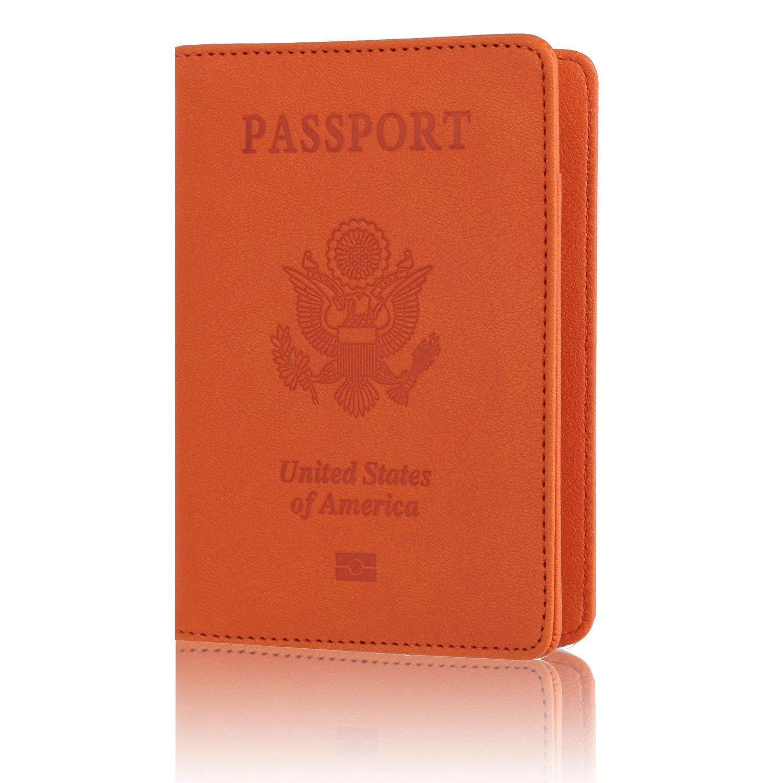 ec3981bcc Leather Passport Holder Cover Leather Rfid Blocking Passport Wallet Case  for Men Women